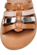 Leather sandals - Light brown - Kids | H&M 4